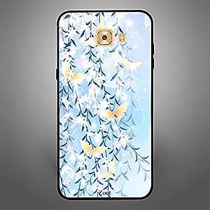 Samsung Galaxy C9 Pro Blue Yellow Butterflies