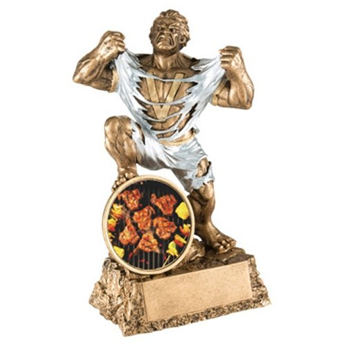 Grilling Monster Trophy with 3 lines of custom text