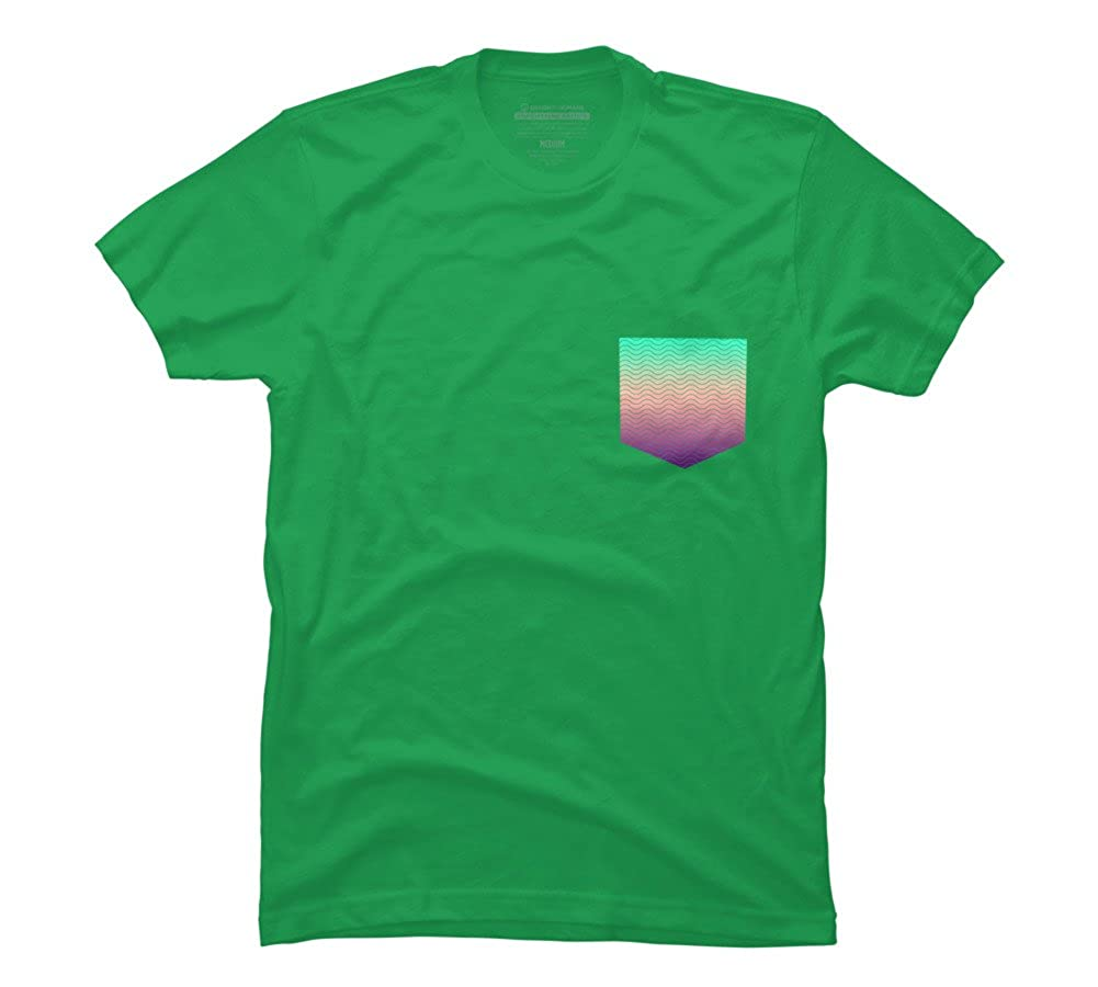 a34aed61e1fb Wave Pocket Tee Men's Graphic T Shirt - Design By Humans | Amazon.com