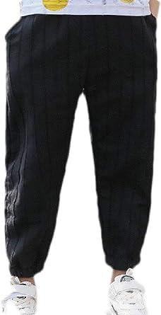 Cromoncent Boys Elastic Waist Trousers Jeans Denim Long Pants