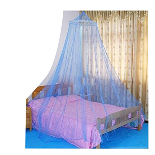 Tangpan Elegent Bed Netting Canopy Travalling Fishing Outdoor Round Dome Mosquito Net Summer Bedroom (Blue) Blue Canopy