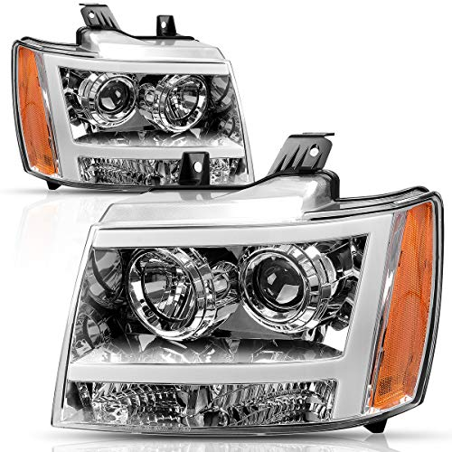 Headlight Assembly for 2007-2013 Chevy Avalanche Pickup Truck 07-14 Chevy Suburban/Tahoe Replacement for Chevrolet SUV Pickup Truck 20760578 20760579