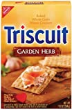 Triscuit Garden Herb 9 Ounce Boxes (Pack of 6)