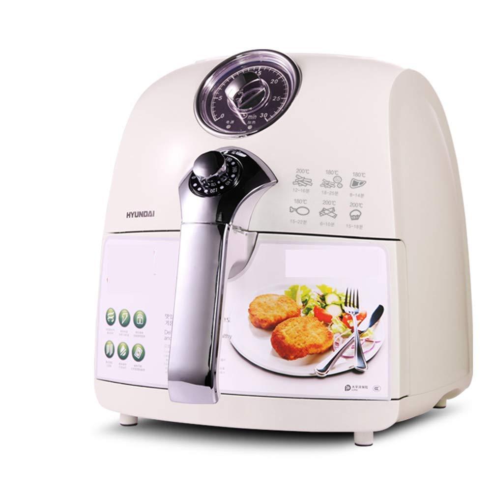 MISJIA Aire freidora Blanco Inteligente hogar NO Aceite LCD Pantalla táctil asado Huevo eléctrico Patatas Fritas máquina/2QT para 3-4 Personas: Amazon.es