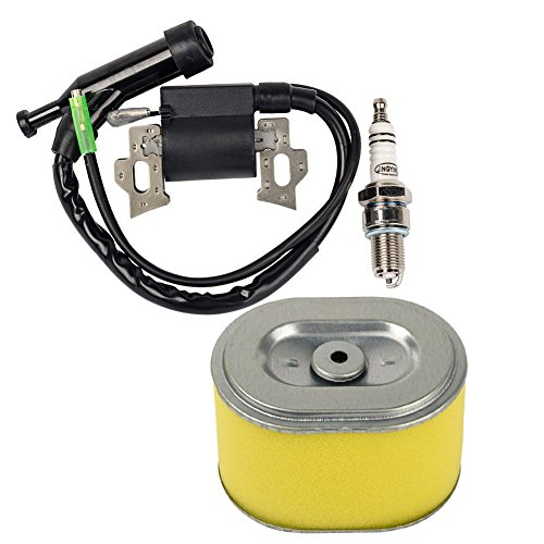 HIFROM Replace Ignition Coil with Spark Plug Air Filter for Honda Gx140 Gx160 Gx200 5.5hp 6.5hp Engine Generator Lawn Mower Motor