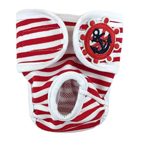 well-wreapped Visky Pet Female Hygienic Sanitary Pant Reusable Reusable Dog Diapers (Red ,Double Extra Large )