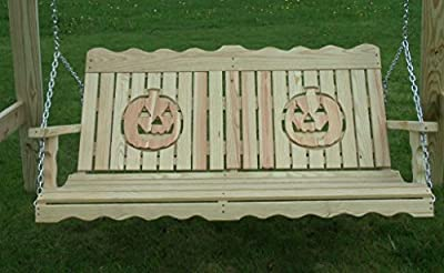 5 Foot Pressure Treated Pine Designs Pumpkin Cut Out Porch Swing