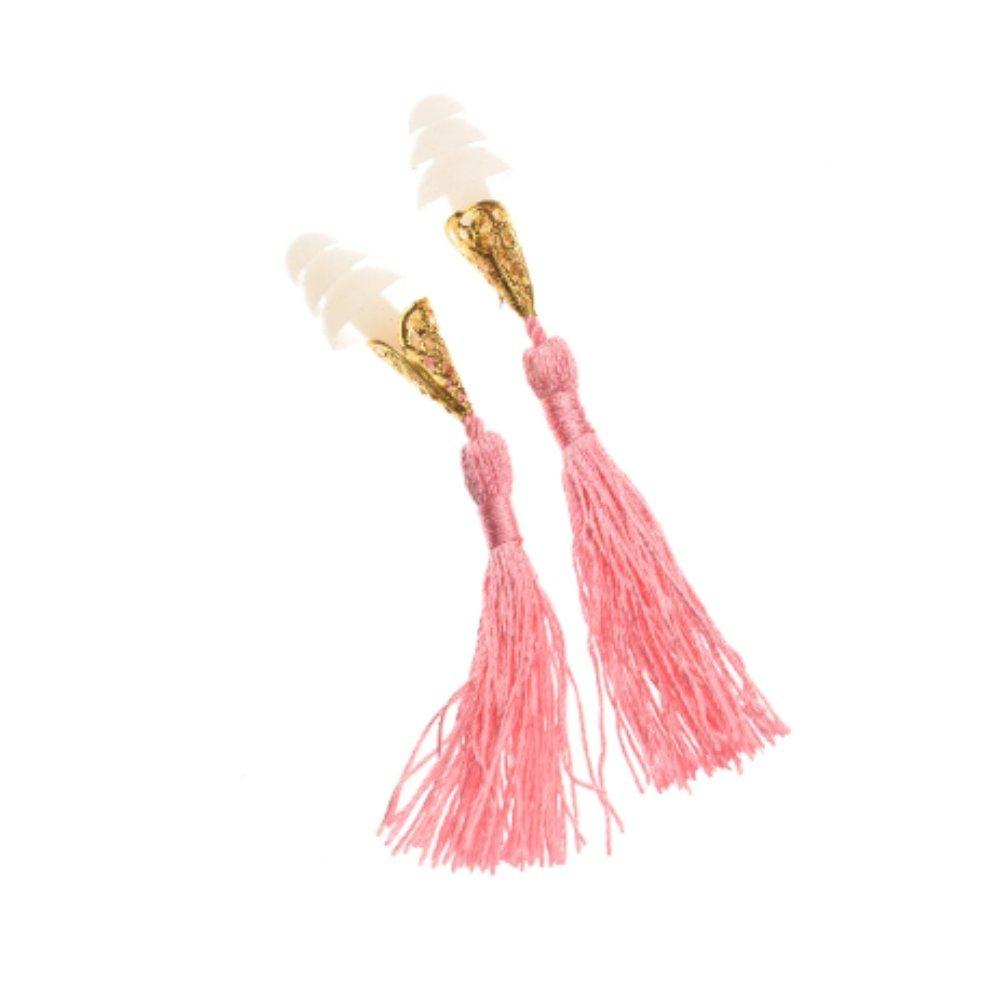 Breakfast at Tiffany's Inspired Tassel Earplugs in Pink Holly Golightly
