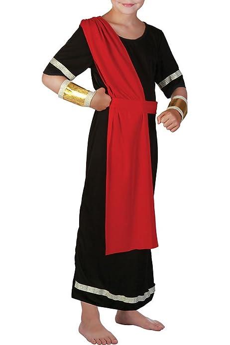 Boys Roman Gladiator Toga Warrior School Fancy Dress Party Costume Outfit 4-14yr