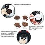 Lictin-Capsule-per-Caffe-Ricaricabili-per-Nespresso-6-Tazze-2-Cucchiaio-di-Plastica-2-Spazzola-i-Cafilas