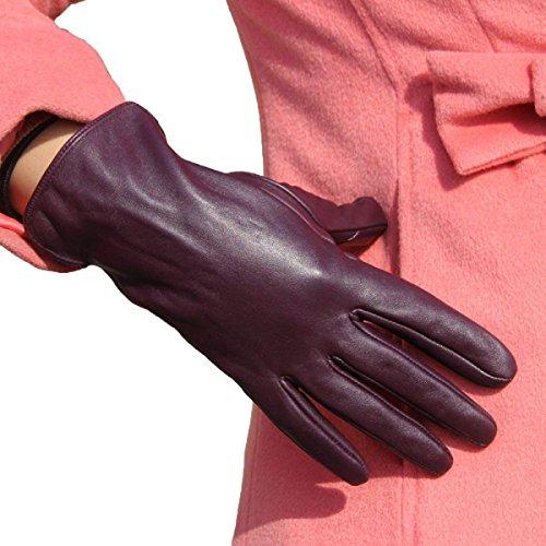 Acogedor De Alta Cuero Sólidos Colores Purple Inferior Aire Guante Impermeables Libre Mitones Dedo Cálidos Dama Gama Guantes Moda Al Conducción wPYPI06q
