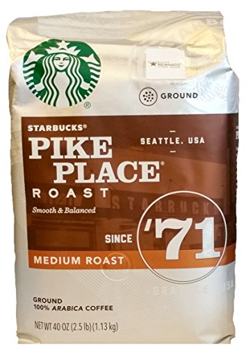 Starbucks Pike Place Roast Ground Coffee, Medium Roast (40 oz bag)