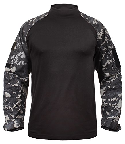 Rothco Tactical Airsoft Combat Shirt, Subdued Urban Digital Camo, L (Digital Camo Tactical)