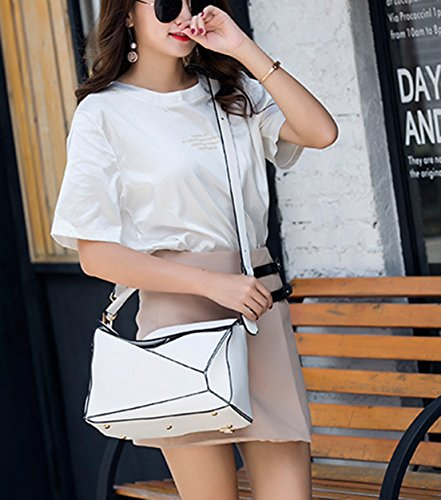 Bolso Blanco hombro mujer para al rosa Medium Seaoeey Rosa Z14q7w8xwd