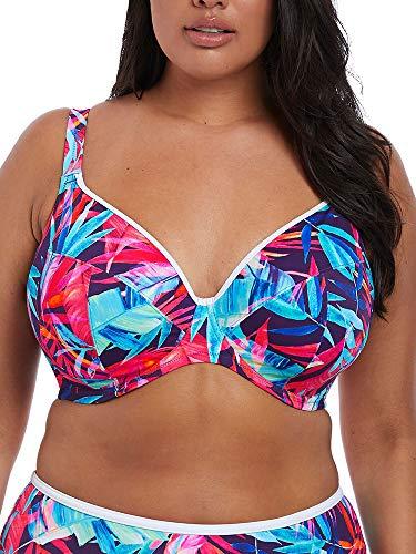 Elomi Paradise Palm Plunge Bikini Top - Multiway Navy 40HH (US 40L)
