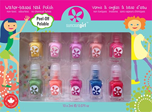Suncoat Girl - 10 Pack Mini Nail Polish Gift Set for Girls (Party (Girls Nail Polish)