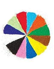 Baker Ross Bolsas de Arena Brillante en 12 Colores (Paquete de 12 Bolsas) Para decorar manualidades