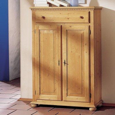 Gradel Valentina Vertiko mit 1 Schublade, 2 Türen und 2 Einlegeböden in Fichte massiv - cortina lackiert
