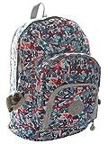 Kipling Harper Expandable Backpack and 100 pen case, Popsicle Dream Blue