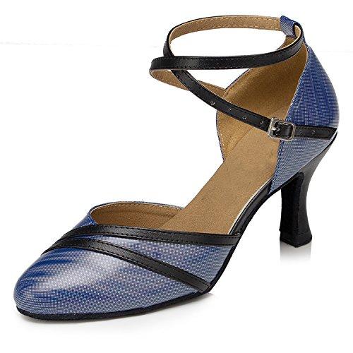 Tanzschuhe 5cm Damen heel Blue 7 Miyoopark fI5xqHxw