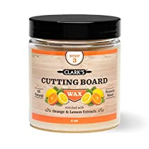 CLARKS Cutting Board Finish Wax | Made with Natural Beeswax and Carnauba Wax | Butcher Block Wax