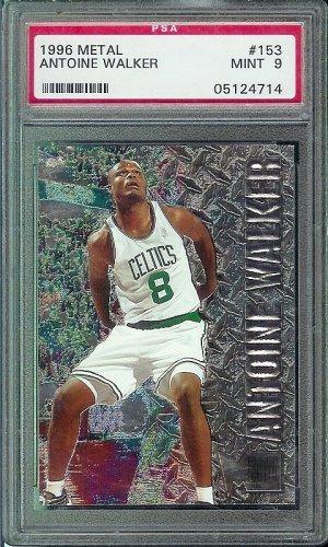 1996 Fleer Metal Antoine Walker Basketball Card #153- PSA Graded 9 Mint