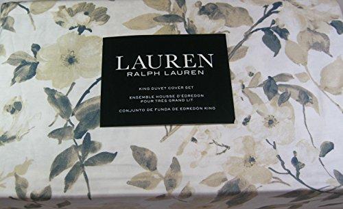 3 Pc. Lauren Floral King Size Duvet Cover Set with 2 Shams 100% Cotton Multi Color (Lauren Duvet Set Ralph)
