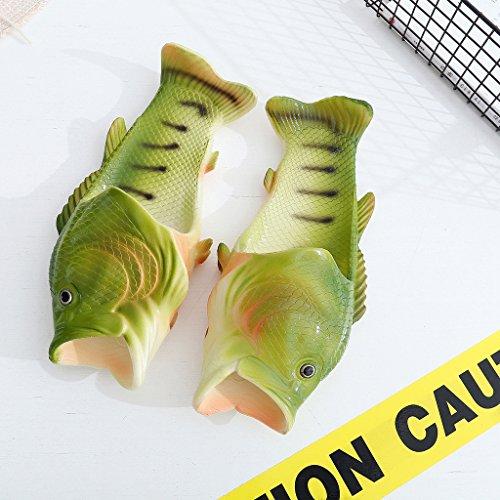 MagiDeal Unisexo Sandalias de Estilo de Pez Zapatos de Playa Zapatillas Atractiva Verde