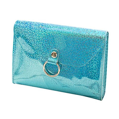 Mode sac messager Lnclined Main à Femme mode Sac bandoulière Rabat mini Femme sac chaine à Cabas sac Bleu main à épaule de Femme main JIANGfu Sac laser qzfZvRWz