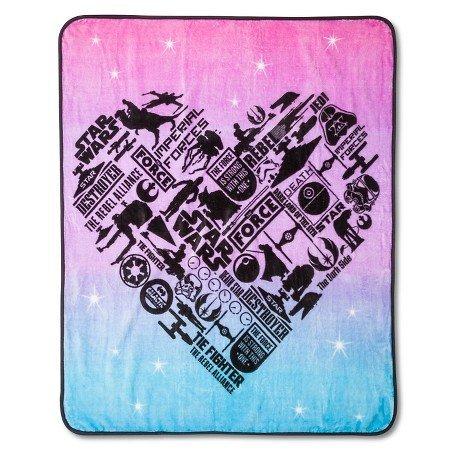 Girls Classic Heart Throw Blanket