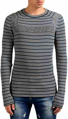 5248459244 Maison Margiela 10 Men's Multi-Color Crewneck Ribbed Sweater US M IT 50