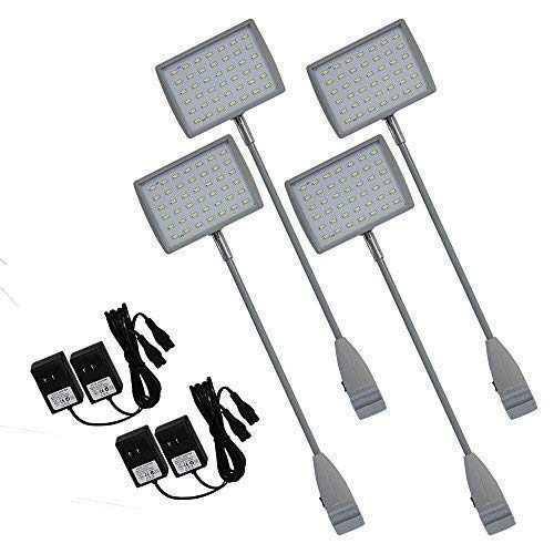 Vispronet 21w 42 LED Spot Lights with Adapters for Trade Show Displays -