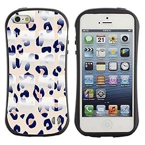 LASTONE PHONE CASE / Suave Silicona Caso Carcasa de Caucho Funda para Apple Iphone 5 / 5S / Pink Leopard Pattern White Black