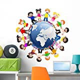 Wallmonkeys Kids Around The World Wall Decal Peel and Stick Graphic WM227087 (36 in H x 36 in W)