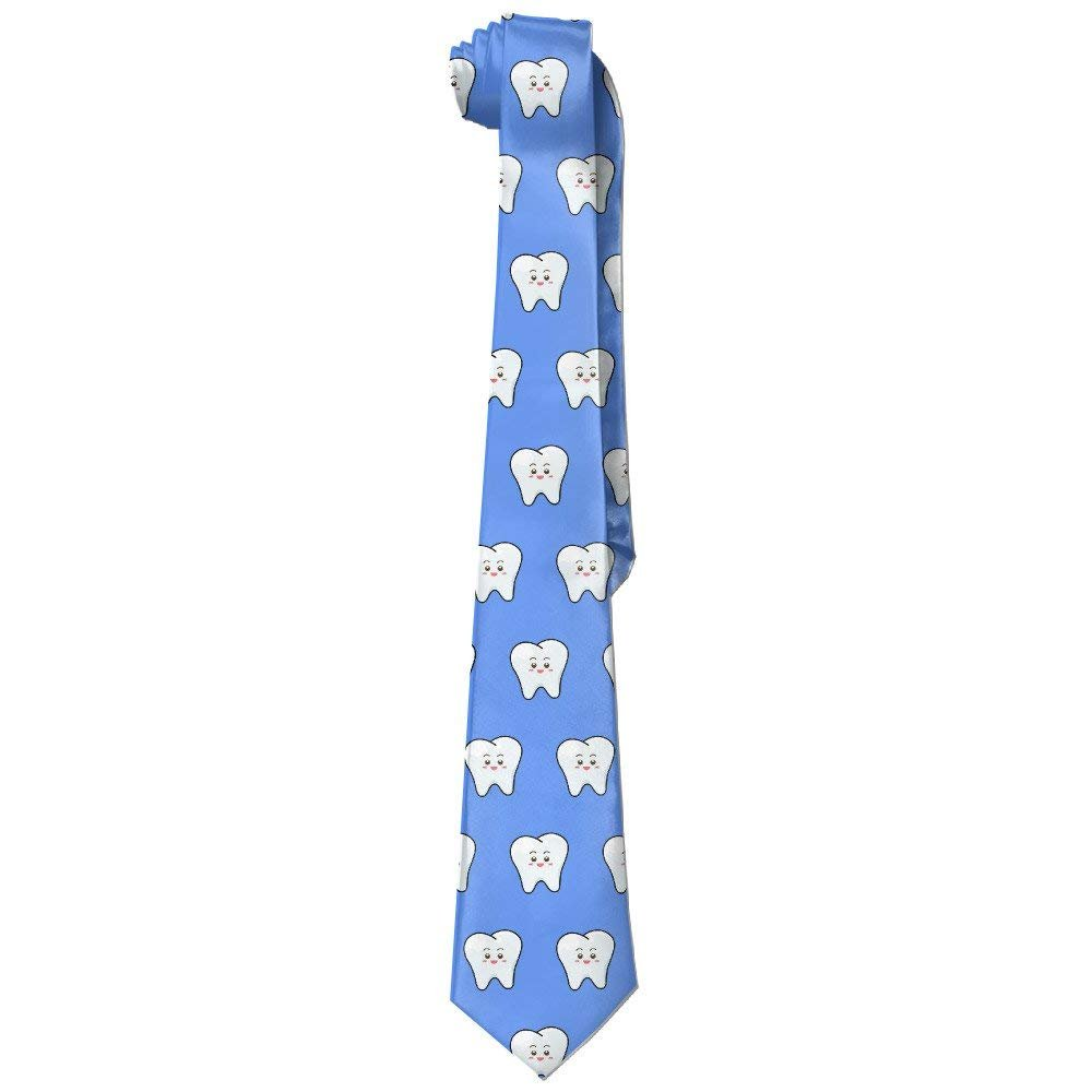 Happy Dental Smile Tooth Necktie Skinny Ties stylish&home