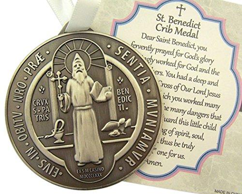 Alloy Saint Benedict Medal Ribbon product image