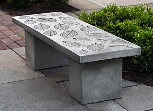 Campania International BE-131-AS Hydrangea Leaf Bench, Alpine Stone Finish