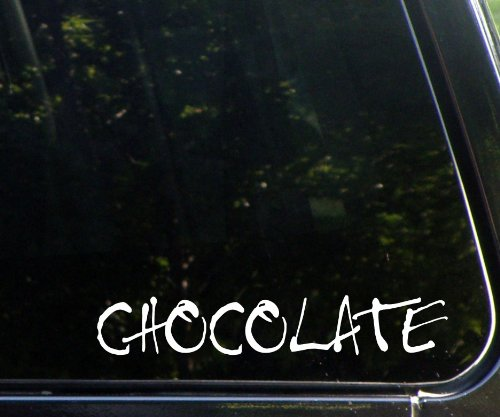 Chocolate Die Cut Decal Sticker For Windows, Cars, Textbooks, Laptops, Etc.