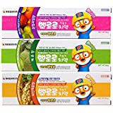 Pororo 啵乐乐 儿童牙膏(儿童牙膏混合水果香90g+儿童牙膏哈密瓜香90g+儿童牙膏菠萝香90g)(进口)