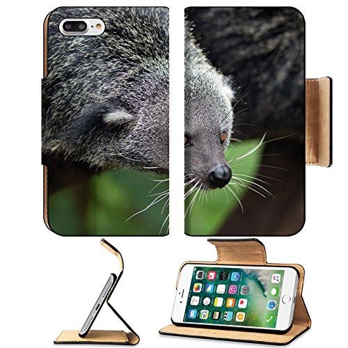 Luxlady Premium Apple Iphone 7 Plus Flip Pu Leather Wallet Case Iphone 7 Plus 24813081 Exotic Rare And Amusing Animal Binturong