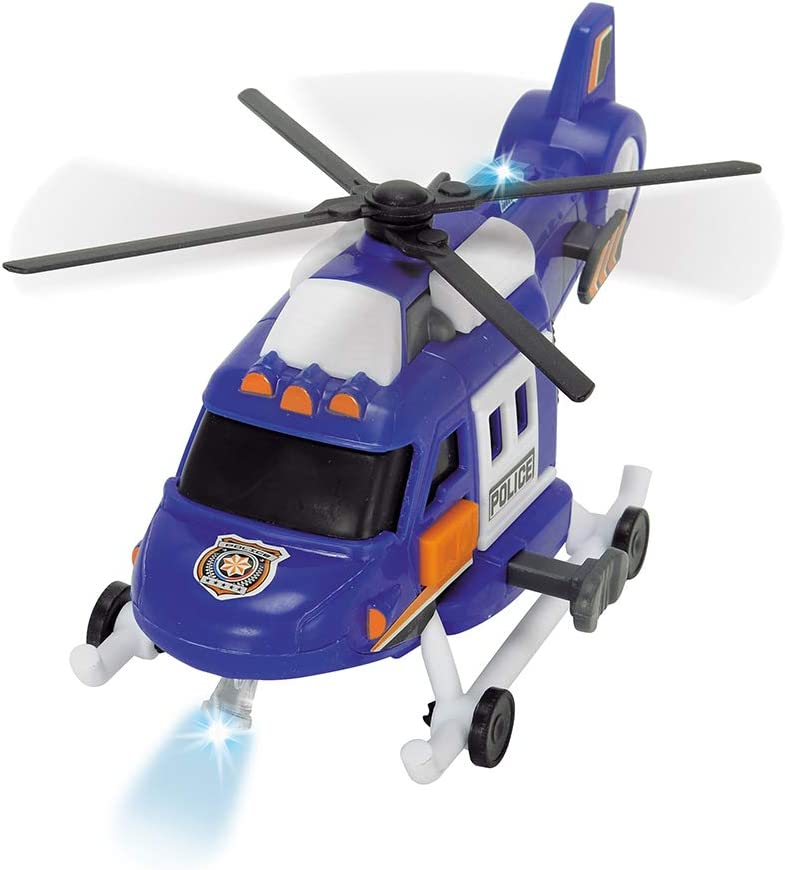 The Shovels Move Multi-Colour Lights and Sounds 4006333036651 Simba Dickie Action Series Helicopter Cm 18