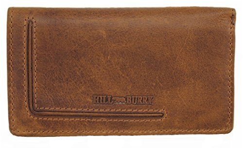 Hill Burry Wallet for Women Large Capacity Long Genuine Leather Clutch ID Card Holder Organizer Ladies Purse Vintage Dublin (Wallet Usa Genuine Ladies Leather)