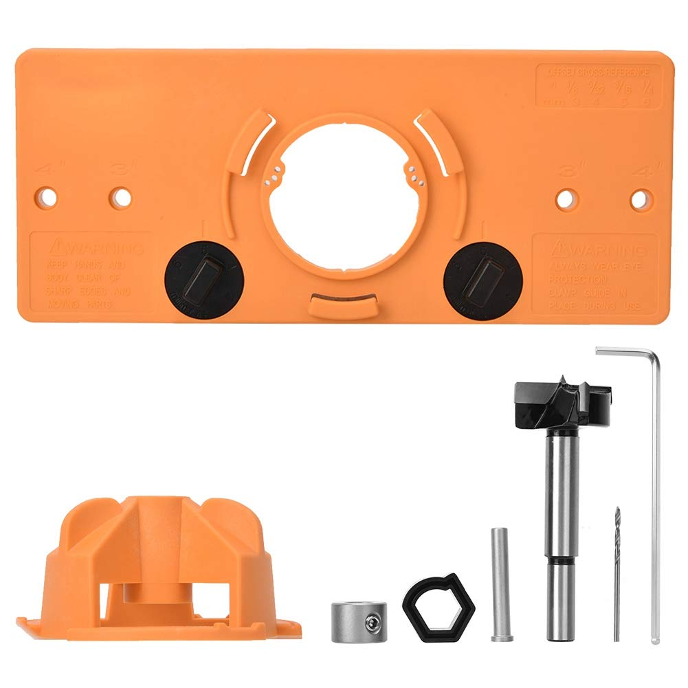 Hole Locator, Hole Jig Kit for Wood Working Step Drill Bit Set Hole Locator DIY Woodworking Tools Kit