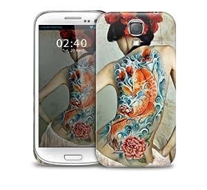 Cubierta de la caja protectora del telŽfono japonesa tatuaje de los pesca Samsung Galaxy S5 GS5 pl‡stico (imagen muestra ejemplo galaxia S4)