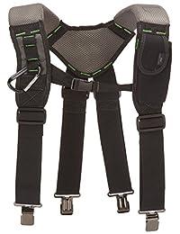 McGuire-Nicholas 30289 Bl- Load Bearing Gelfoam Suspenders for Added Back Support, Black