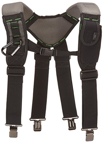 McGuire-Nicholas 30289 Bl- Load Bearing Gelfoam Suspenders For Added Back Support, Black