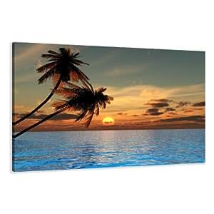Visario 4144 - Fotografía sobre lienzo (80 x 60 cm), diseño de playa