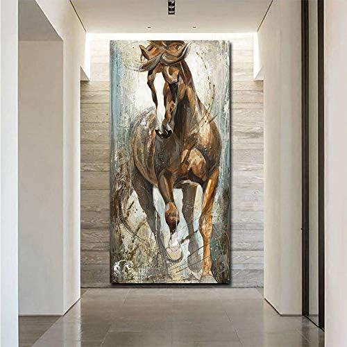 unbrand Pintura Vertical Moderna del Caballo de la Lona Cuadros Pinturas en la Pared Decoración para el hogar Carteles de la Lona Impresiones Imágenes Arte 30X60CM