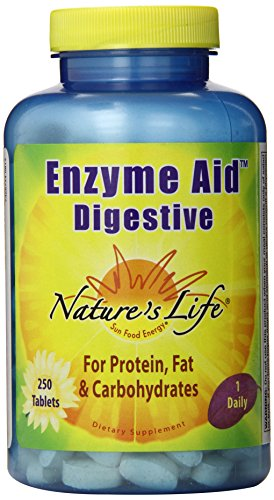 Nature's Life Enzyme Aid Digestive Tablets, 250 Count