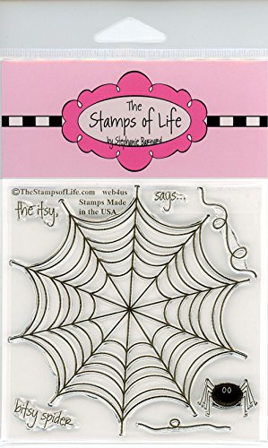 Spider Web Stamps for Card-Making and Scrapbooking Supplies by The Stamps of Life - Web4Us -